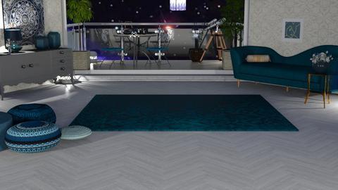 My blue rug - Living room  - by nat mi