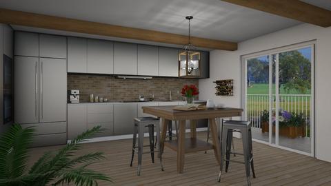 Modern Farm Kitchen - Eclectic - Kitchen  - by Theadora
