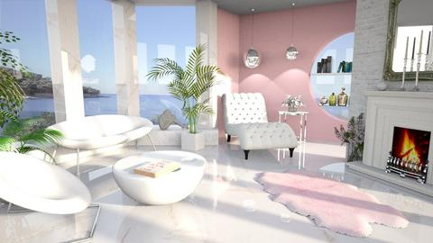 Marble sunroom - Modern - Living room  - by MonicaMV