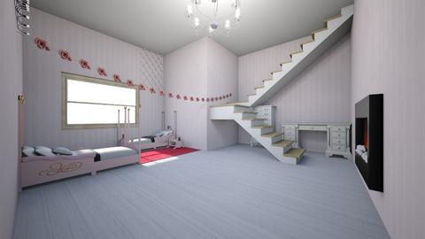 royal twin girl bedroom - Bedroom  - by kmcdonald020910