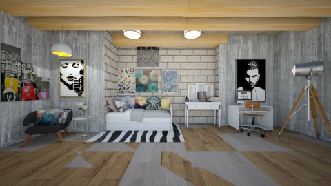 Jen and Kays sisters room - Country - Bedroom  - by malakyasir55