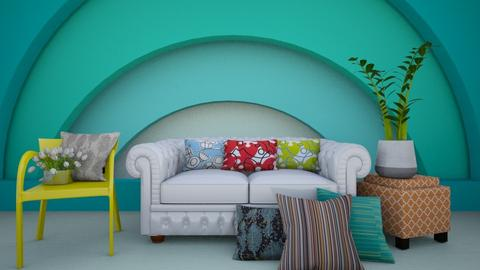 colorful room - Living room  - by Adrianna1010