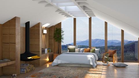 mount attic - Bedroom  - by TamarK