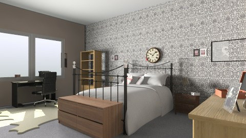 MY_NEW_ROOM - Vintage - Bedroom  - by winry
