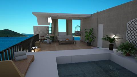 rooftop terrace - Garden  - by nikolilelinka