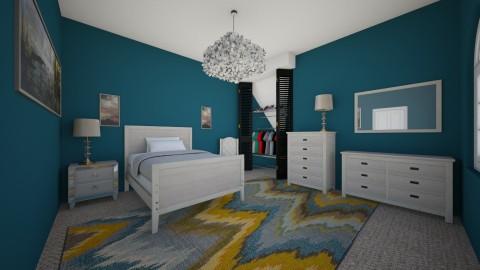 blue bedroom - Bedroom  - by chloebear