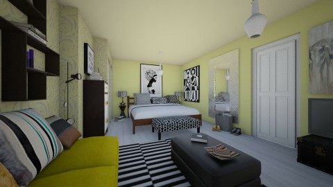 Bedroom redesign II - Modern - Bedroom  - by Conchy