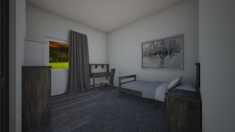 Rustic Boys Bedroom Grey - Rustic - Bedroom  - by Khayla Simpson