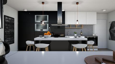 dark kitchen - Kitchen - by GraceRoomstyler
