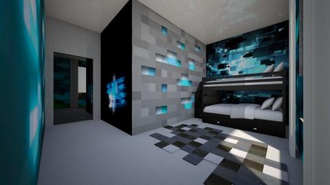 Minecraft Blue  - Kids room  - by Amyz625