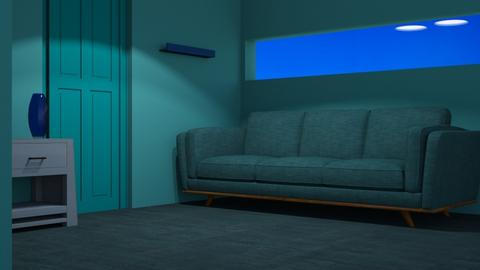 Blue 5 - Living room  - by designkitty31