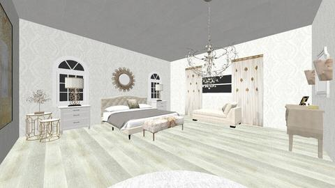 Interior design class 2 - Glamour - Bedroom  - by Frasl