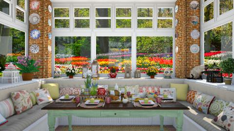 Easter Breakfast Nook - Dining room  - by maja97