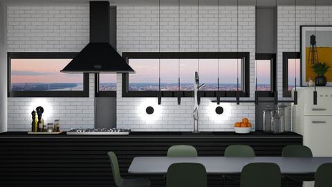 black kitchen - Kitchen  - by lais baptista