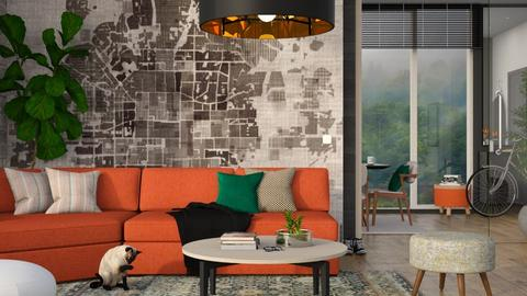 Orange - Living room - by ArtHousedeco