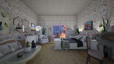 French - Vintage - Bedroom - by Irishrose58