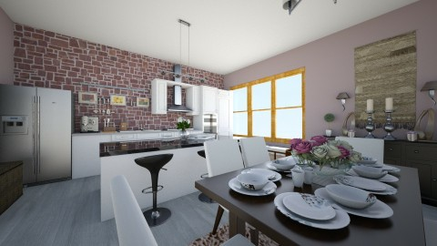 La Casa Kitchen and Room  - Dining room  - by xmlna