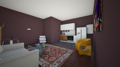 kitchen andliving room - Retro - by AURORA SCOTT ALLEN