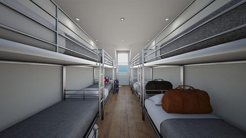 Paris Hostel - Bedroom  - by SammyJPili