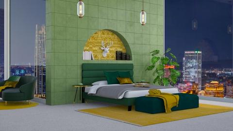 Green N Gold Lux - Bedroom  - by ShazaD14