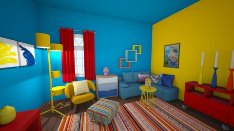 color - Living room - by Szalalala123