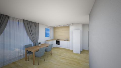 Kuchnia B - Living room - by KatarzynaLaszczyk
