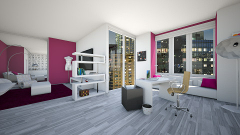 feminine office space - Modern - Office  - by Bobikee