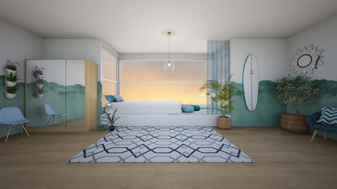 Caribbean bedroom - Bedroom  - by seasidestarfish