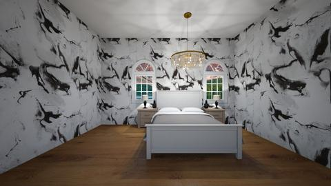 Black and white bedroom  - Bedroom  - by hbrown28