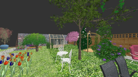 cottage yard renew exteri - Eclectic - Garden  - by Elizabeth Lincoln