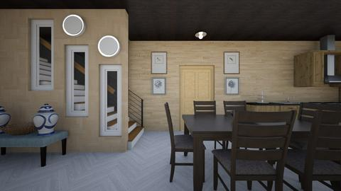 wood - Rustic - Kitchen  - by melysyusss