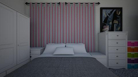 Preto rosa dormitorio - Bedroom  - by maliamAIA