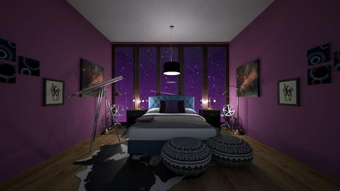 Night Sky Bedroom - Modern - Bedroom  - by TortillaChip
