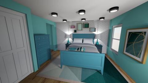 Aqua Room  - Bedroom  - by mittens8