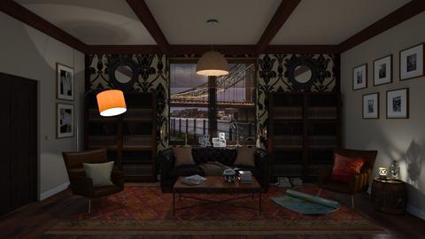 Sherlock Holmes - Retro - Living room  - by Elenny