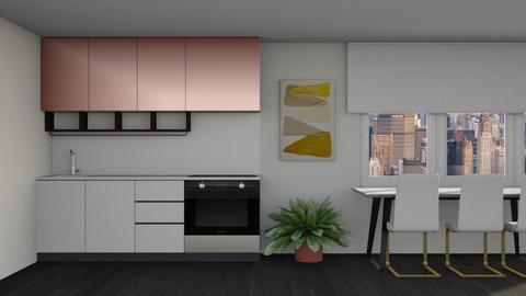 Rose Gold Dining Kitchen - Minimal - Kitchen  - by kitacat