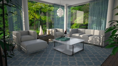 In the Woods - Modern - Living room  - by anchajaya