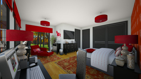 Black n Red - Modern - Bedroom  - by Joao M Palla
