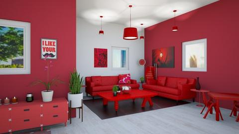 Red - Glamour - Living room  - by Isaacarchitect
