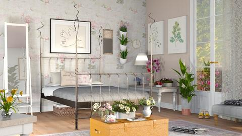 Wildflower Bedroom - Vintage - Bedroom  - by Sally Simpson