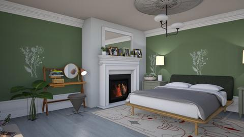 Old and new sage - Eclectic - Bedroom  - by augustmoon