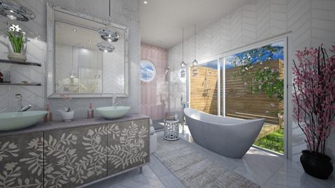 Cherry Blossom Bathroom - Bathroom  - by Aurora Boreas