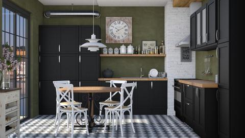 Green walls - Kitchen  - by Lizzy0715