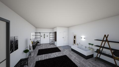 modern queen bathroom - Modern - Bathroom - by JazzyMarie3339