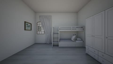 grey room - Bedroom  - by gurty
