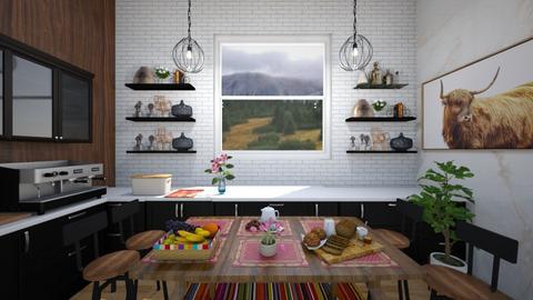 modernfarmhouseUlcia - Modern - Kitchen  - by Ulcia