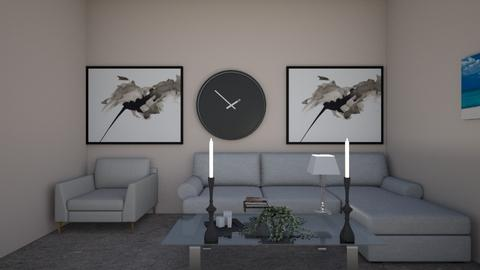 minimalist living room  - by PennyLover