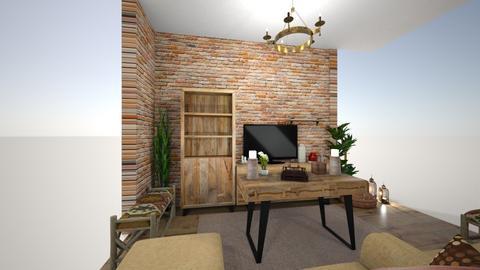 orange rustic living room - Rustic - by meriam hany