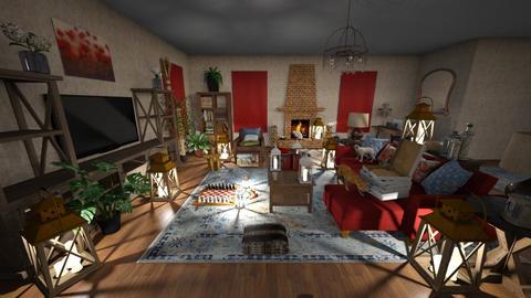 Stormy Day LivingRm - Vintage - Living room  - by Buffy7