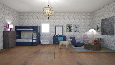 twin girls room - by Alyssa the boss lady